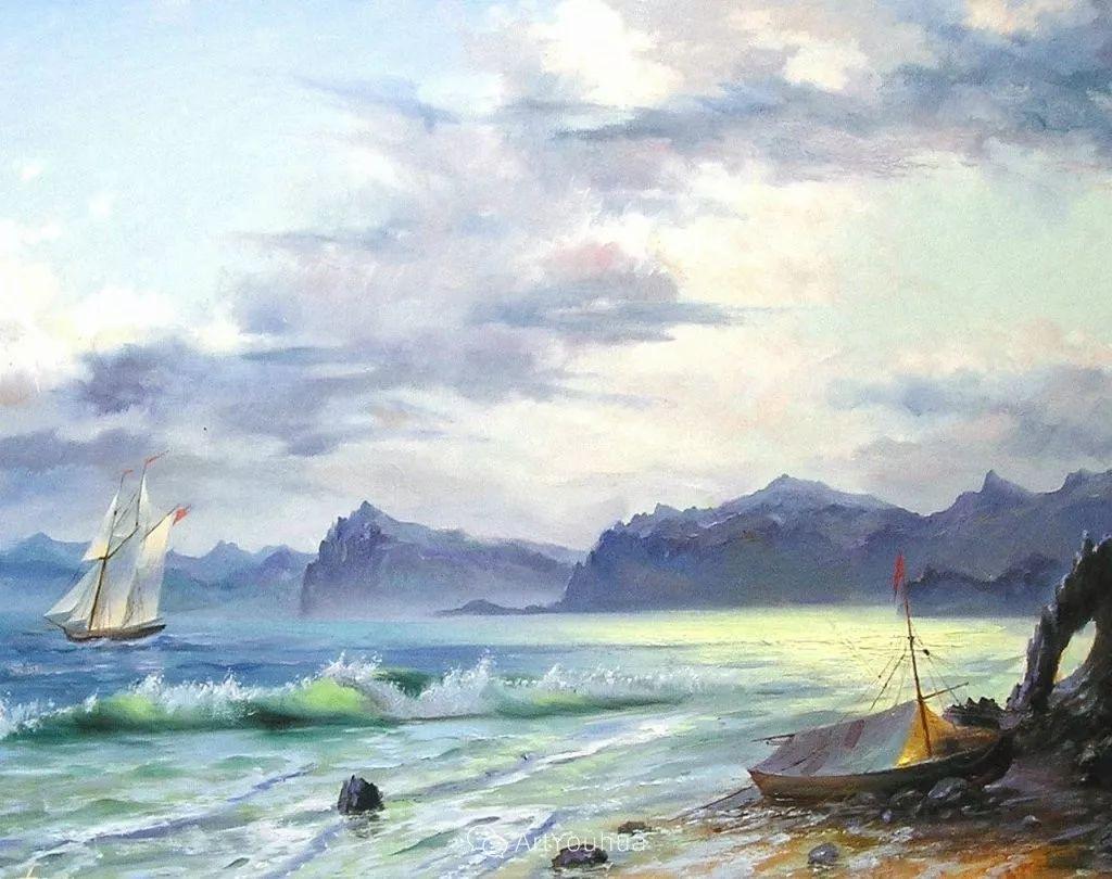 他画笔下的克里米亚海滨,像一位清晨初醒的迷人少女插图43