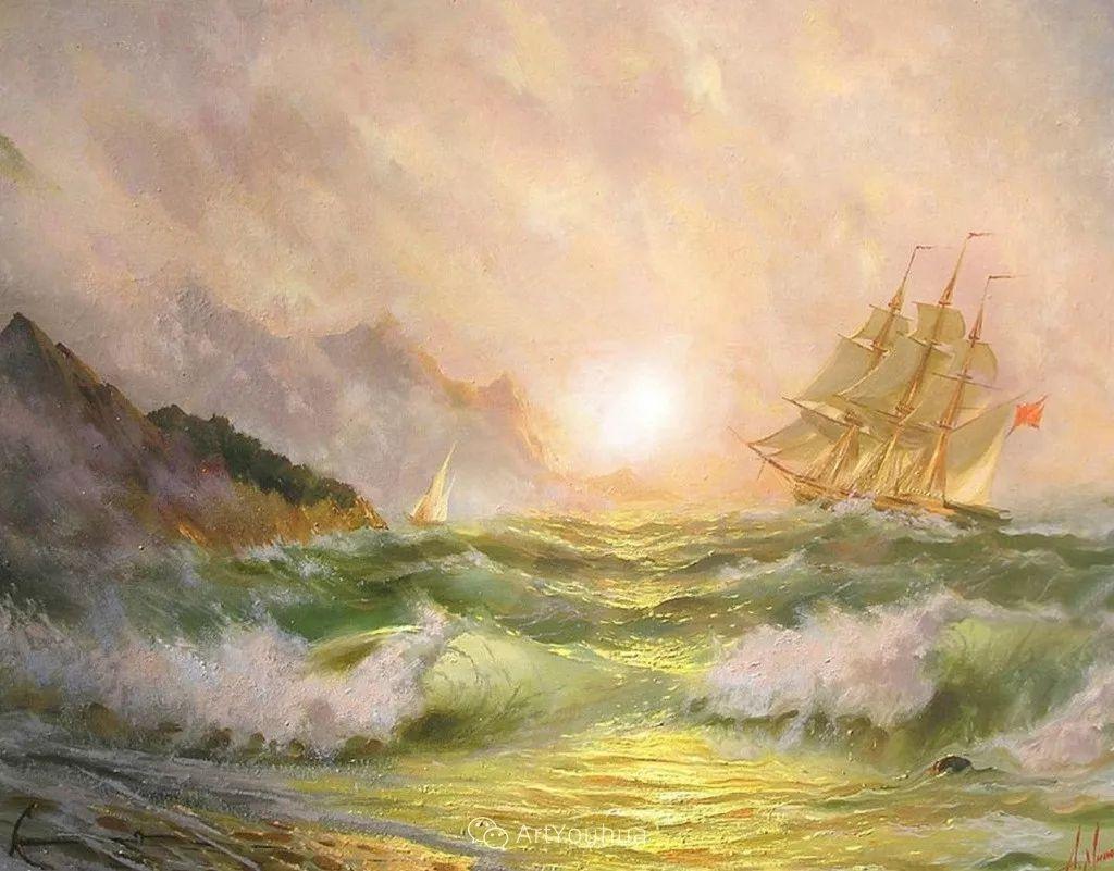 他画笔下的克里米亚海滨,像一位清晨初醒的迷人少女插图47