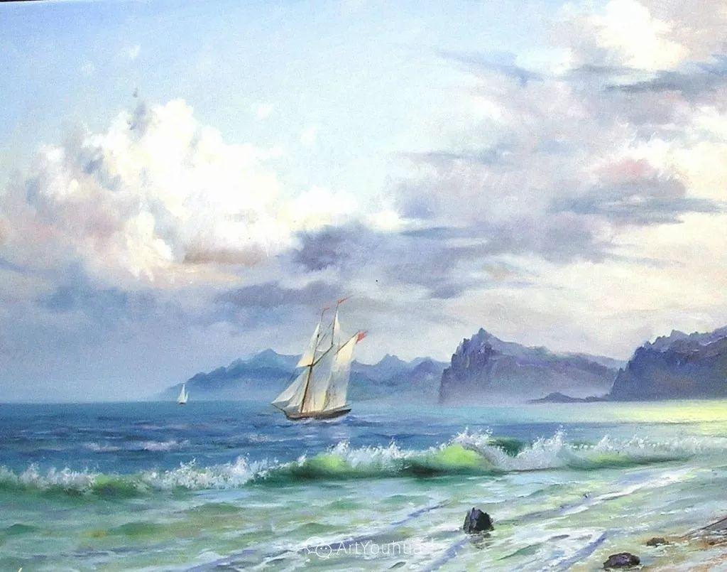 他画笔下的克里米亚海滨,像一位清晨初醒的迷人少女插图49