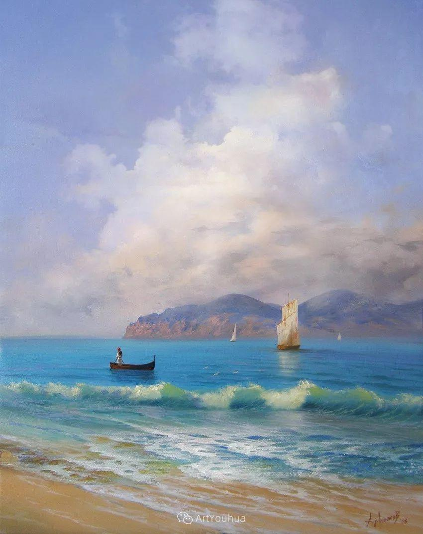 他画笔下的克里米亚海滨,像一位清晨初醒的迷人少女插图51