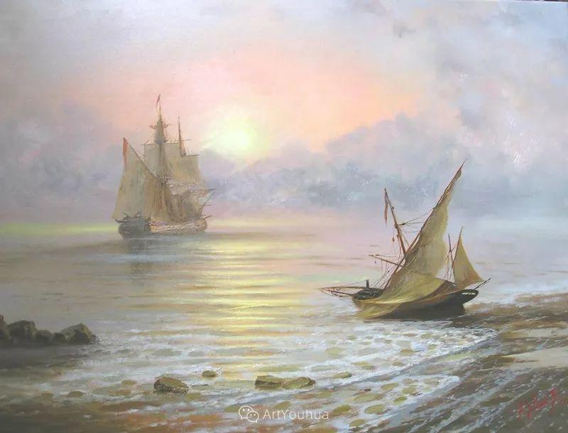 他画笔下的克里米亚海滨,像一位清晨初醒的迷人少女插图53