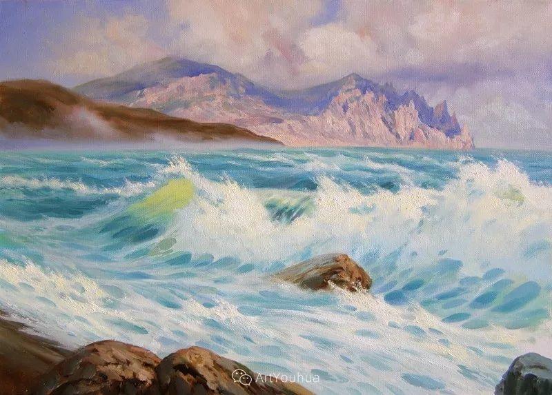 他画笔下的克里米亚海滨,像一位清晨初醒的迷人少女插图59