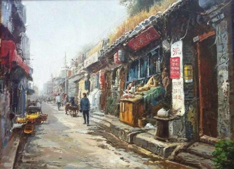 北京胡同 黄劲松油画欣赏插图13