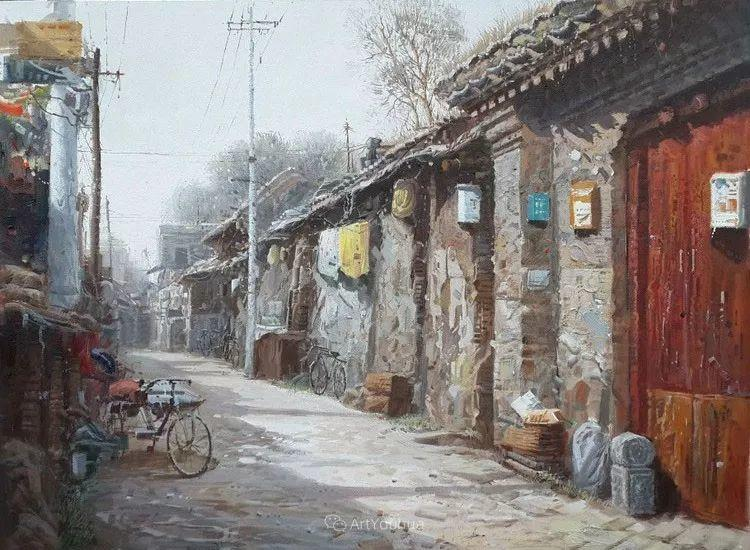 北京胡同 黄劲松油画欣赏插图17