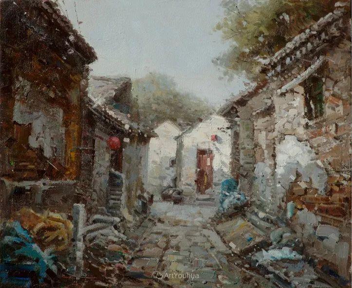 北京胡同 黄劲松油画欣赏插图29
