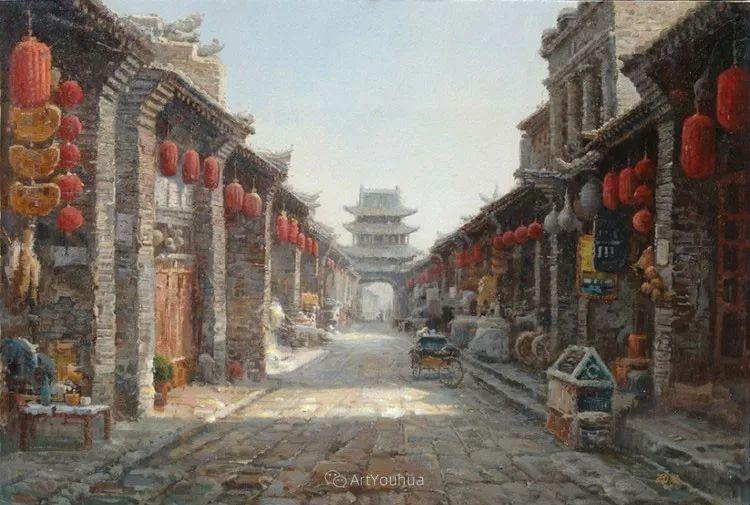 北京胡同 黄劲松油画欣赏插图36