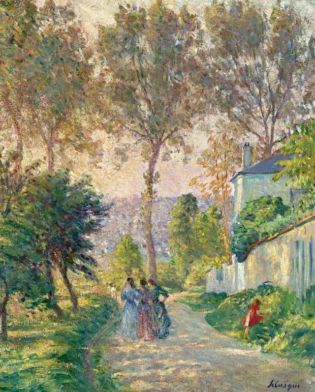 强调色彩互补,法国后印象派画家勒巴斯克插图