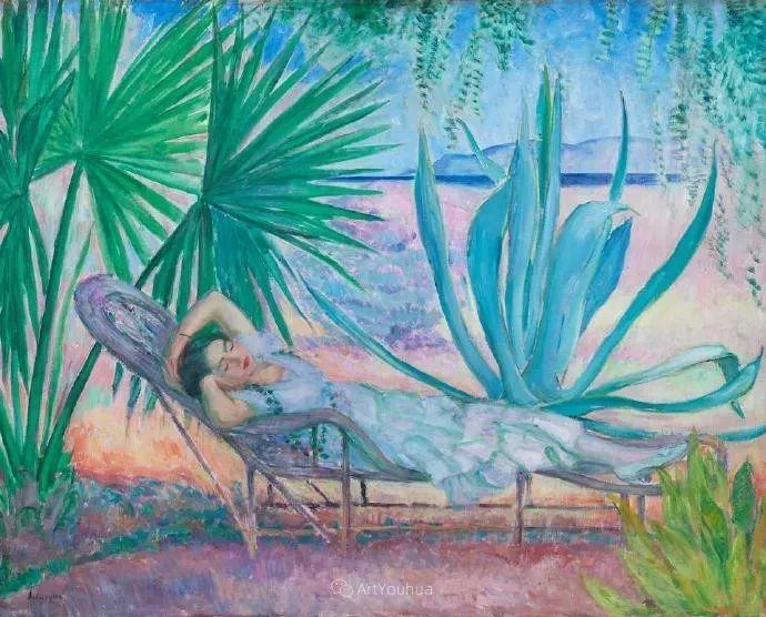 强调色彩互补,法国后印象派画家勒巴斯克插图1