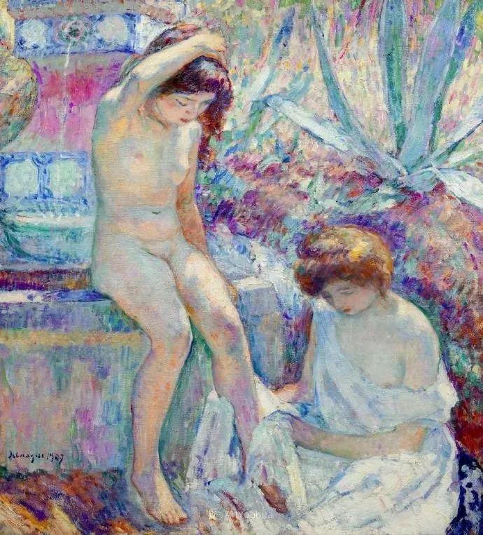 强调色彩互补,法国后印象派画家勒巴斯克插图4