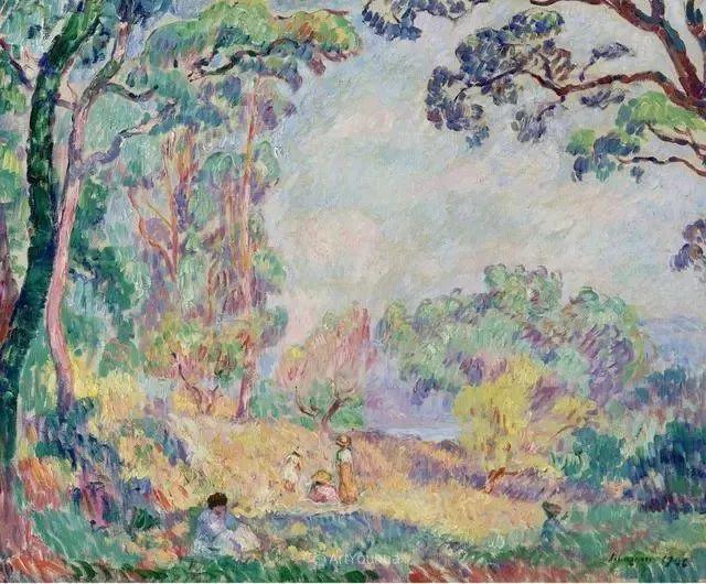 强调色彩互补,法国后印象派画家勒巴斯克插图10