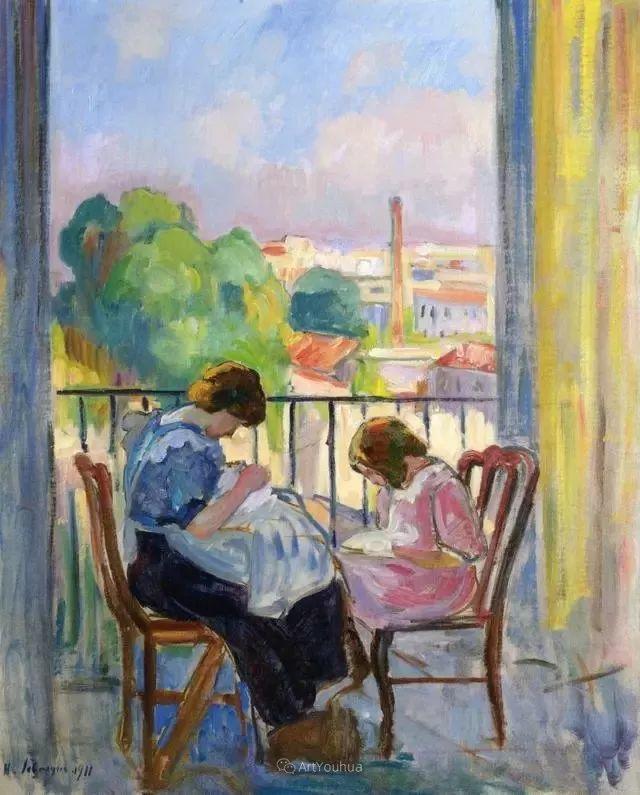 强调色彩互补,法国后印象派画家勒巴斯克插图16