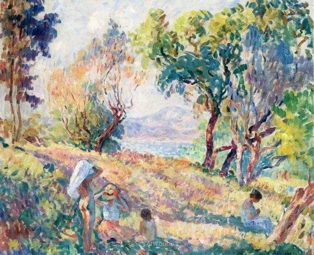 强调色彩互补,法国后印象派画家勒巴斯克插图18