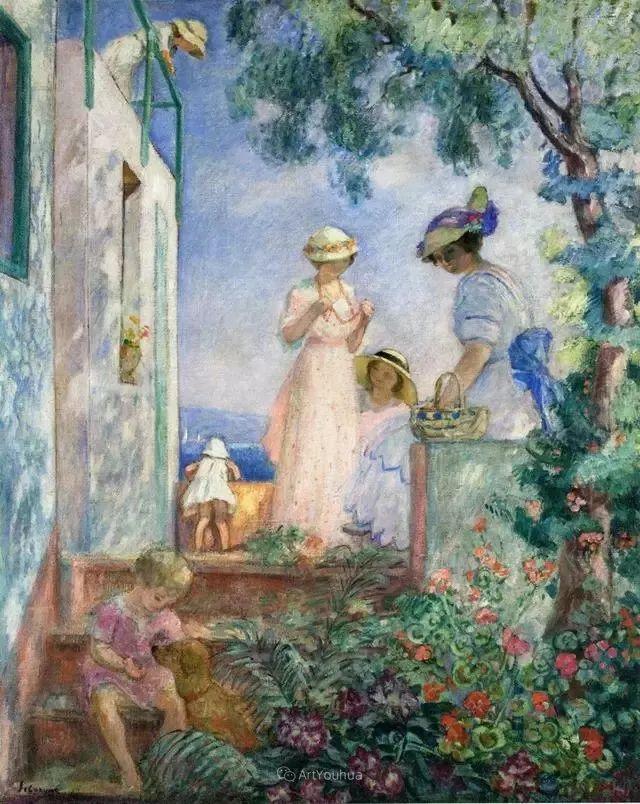 强调色彩互补,法国后印象派画家勒巴斯克插图19