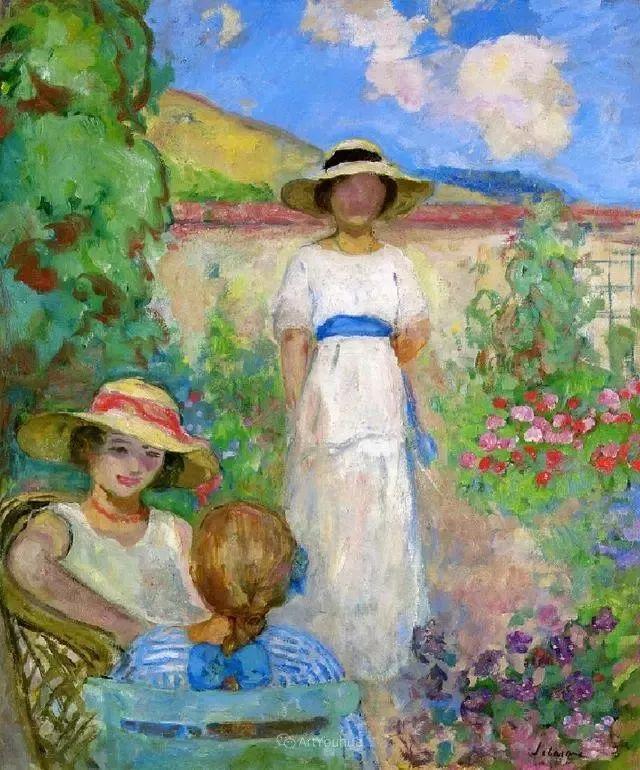 强调色彩互补,法国后印象派画家勒巴斯克插图29