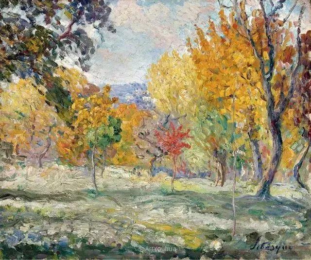 强调色彩互补,法国后印象派画家勒巴斯克插图30