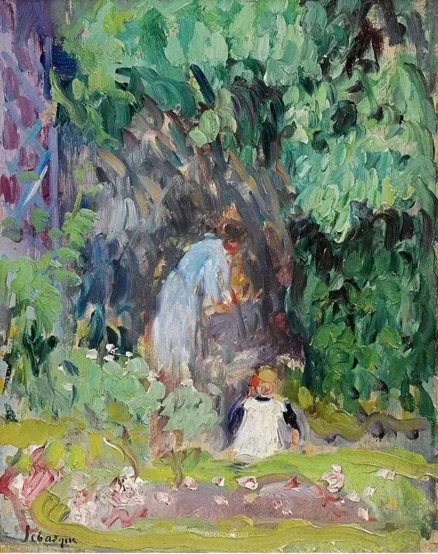 强调色彩互补,法国后印象派画家勒巴斯克插图32