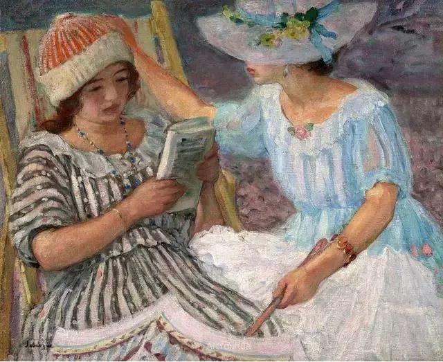 强调色彩互补,法国后印象派画家勒巴斯克插图33