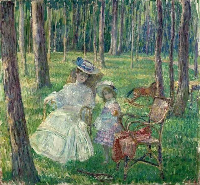 强调色彩互补,法国后印象派画家勒巴斯克插图34
