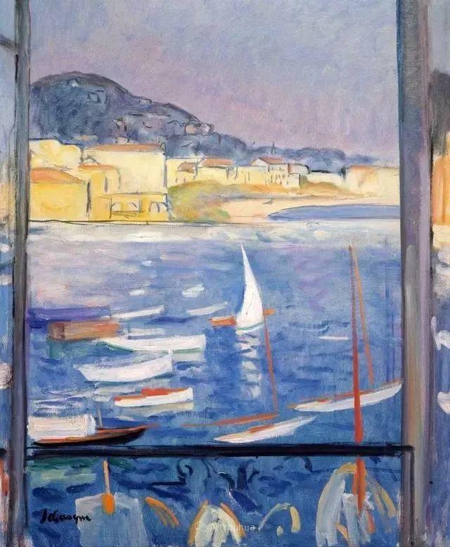 强调色彩互补,法国后印象派画家勒巴斯克插图35