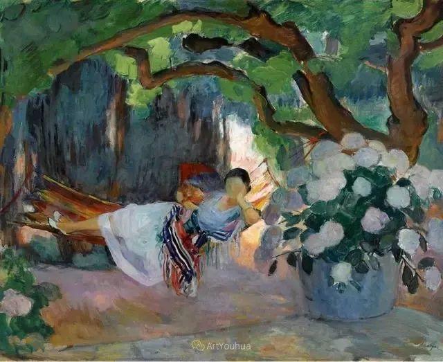 强调色彩互补,法国后印象派画家勒巴斯克插图36