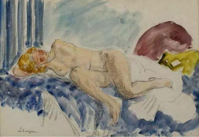 强调色彩互补,法国后印象派画家勒巴斯克插图37