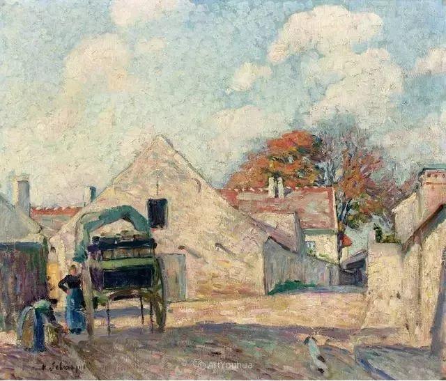 强调色彩互补,法国后印象派画家勒巴斯克插图39