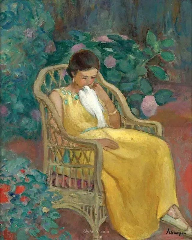强调色彩互补,法国后印象派画家勒巴斯克插图42