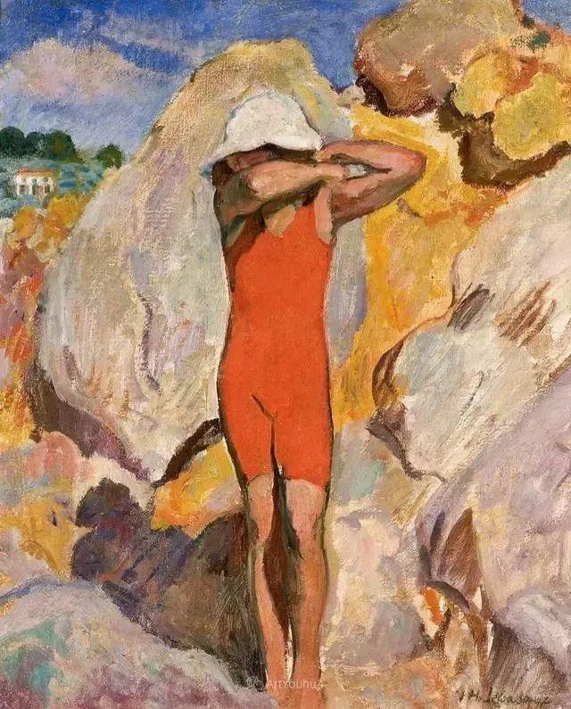 强调色彩互补,法国后印象派画家勒巴斯克插图45