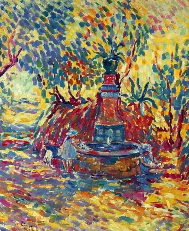 强调色彩互补,法国后印象派画家勒巴斯克插图48