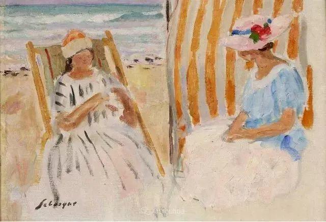 强调色彩互补,法国后印象派画家勒巴斯克插图52