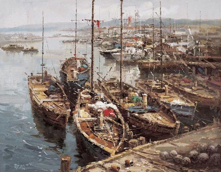 船舶油画——黄劲松作品欣赏插图
