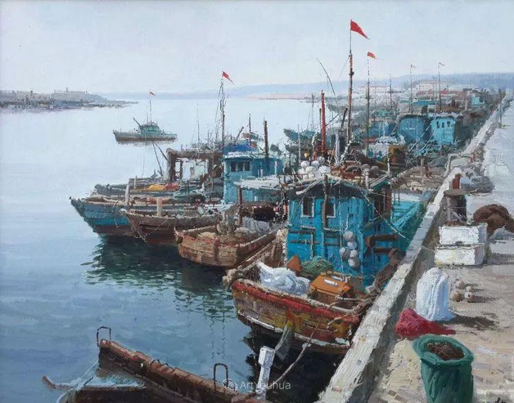船舶油画——黄劲松作品欣赏插图1