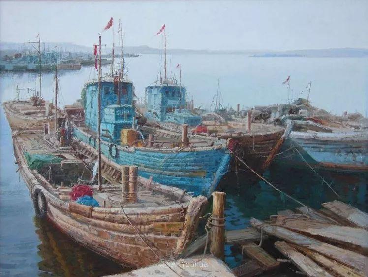 船舶油画——黄劲松作品欣赏插图4
