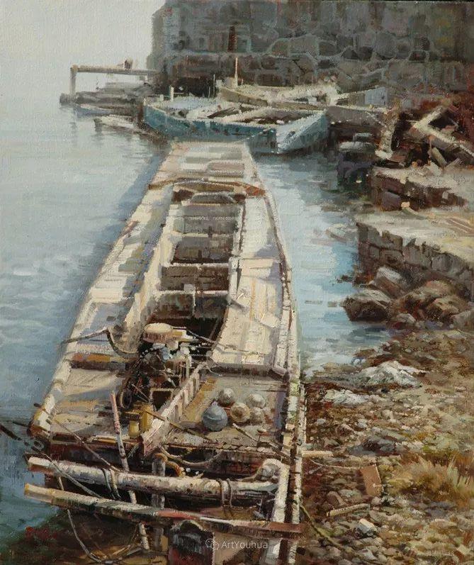 船舶油画——黄劲松作品欣赏插图8