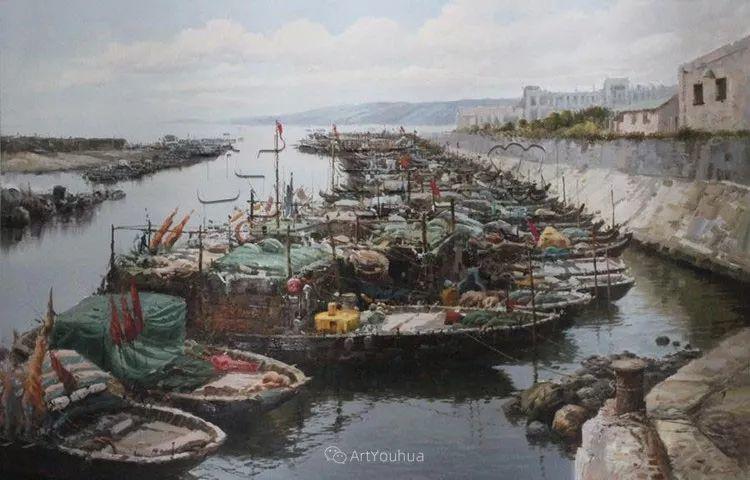 船舶油画——黄劲松作品欣赏插图9