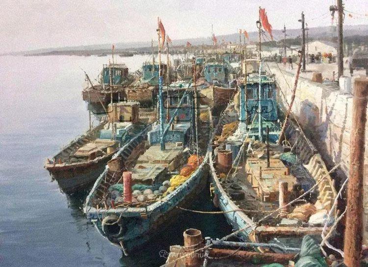 船舶油画——黄劲松作品欣赏插图10