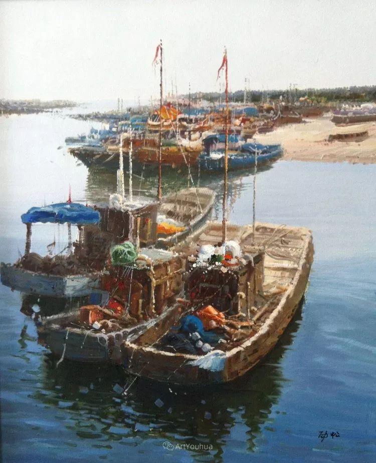 船舶油画——黄劲松作品欣赏插图11