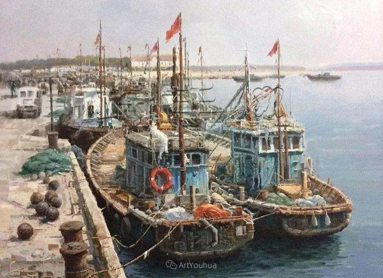 船舶油画——黄劲松作品欣赏插图13