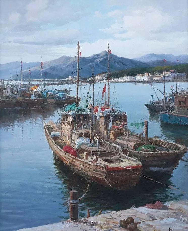 船舶油画——黄劲松作品欣赏插图16