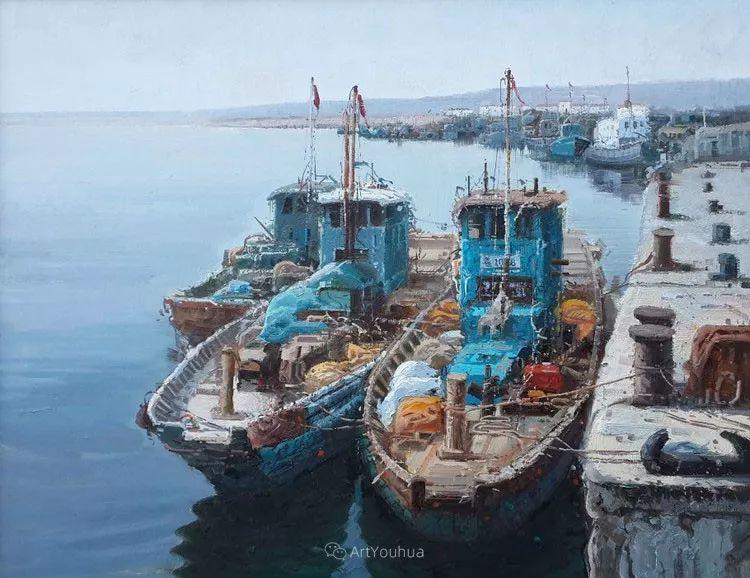 船舶油画——黄劲松作品欣赏插图19