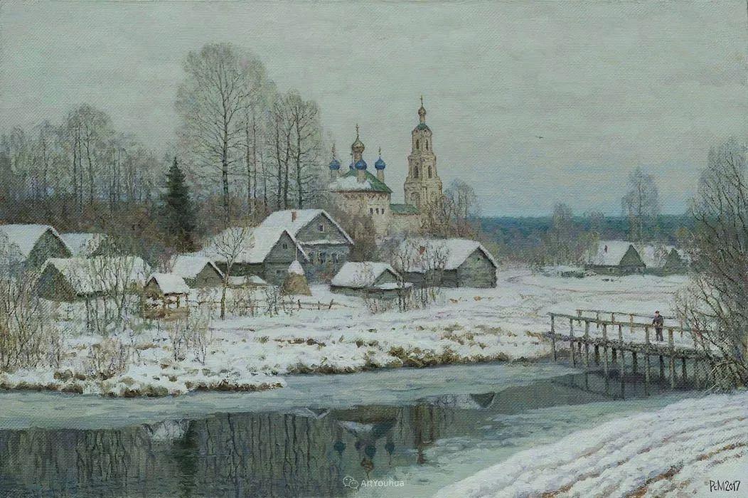 雪景油画 俄罗斯画家Rem Saifulmulukov插图9