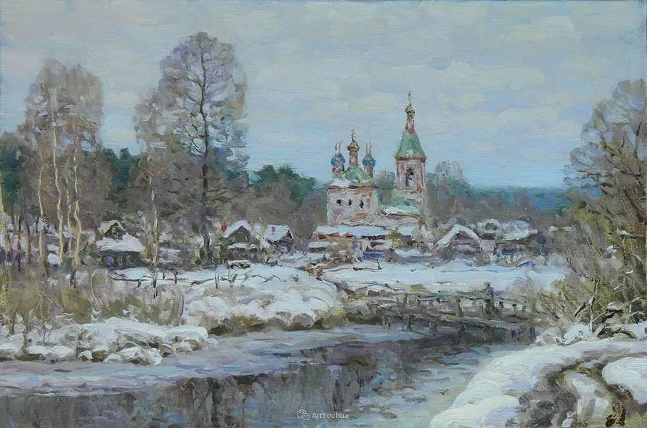 雪景油画 俄罗斯画家Rem Saifulmulukov插图13