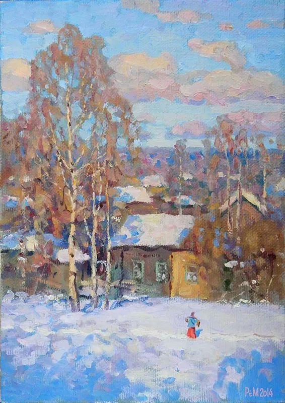 雪景油画 俄罗斯画家Rem Saifulmulukov插图15