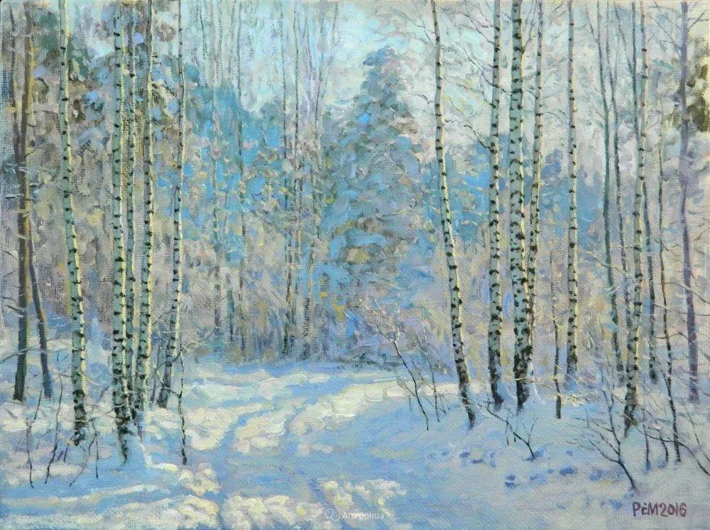 雪景油画 俄罗斯画家Rem Saifulmulukov插图17