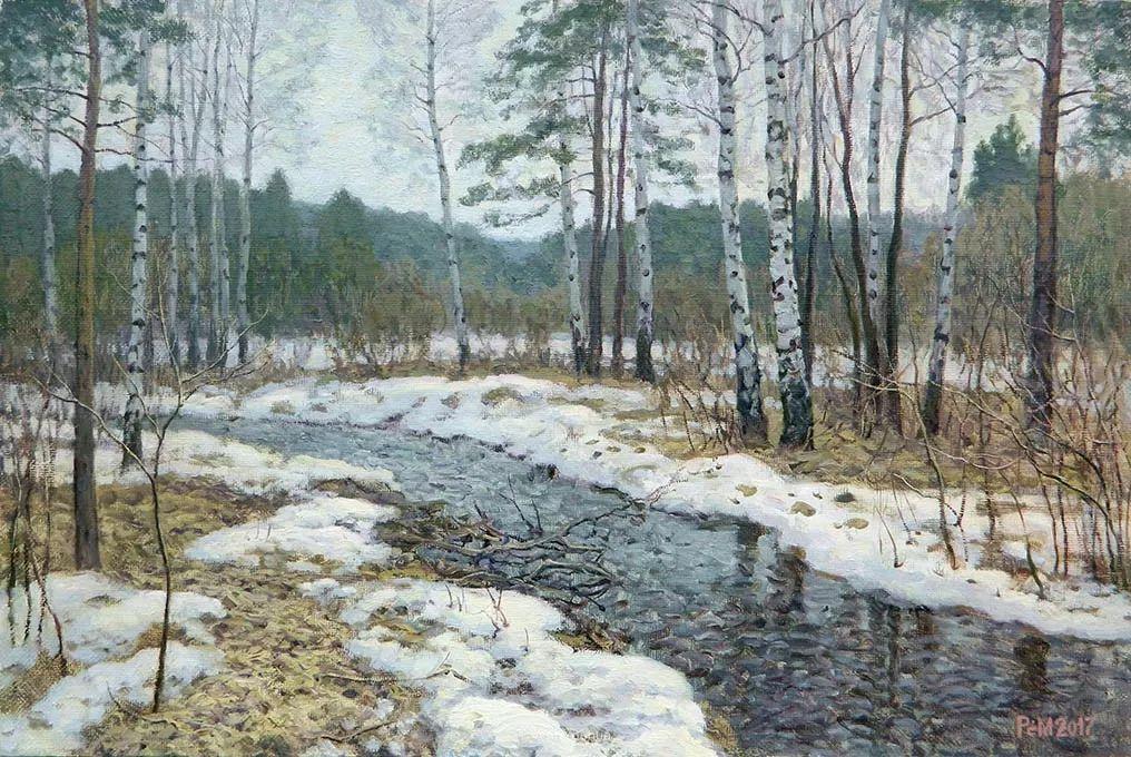 雪景油画 俄罗斯画家Rem Saifulmulukov插图19