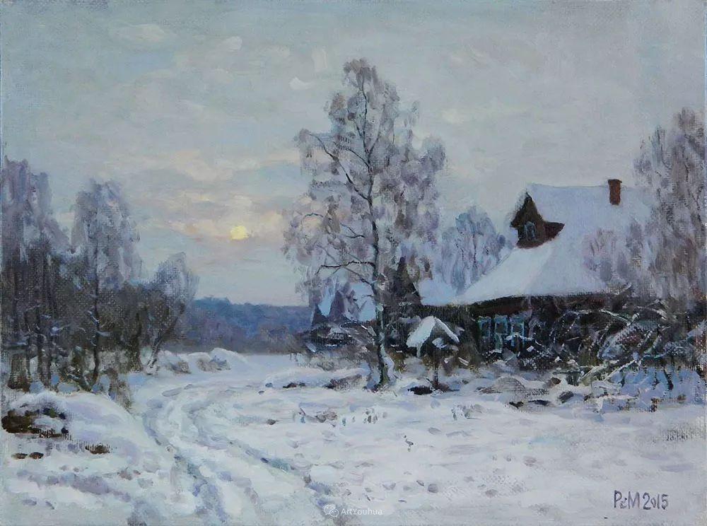 雪景油画 俄罗斯画家Rem Saifulmulukov插图23