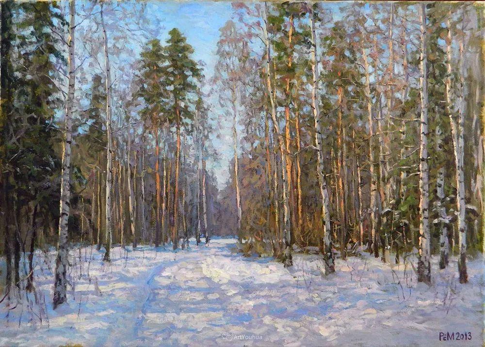 雪景油画 俄罗斯画家Rem Saifulmulukov插图25