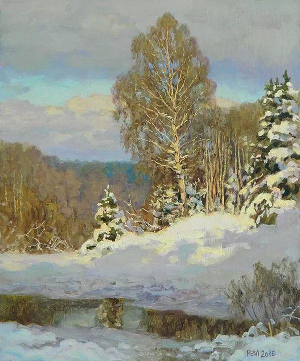雪景油画 俄罗斯画家Rem Saifulmulukov插图29