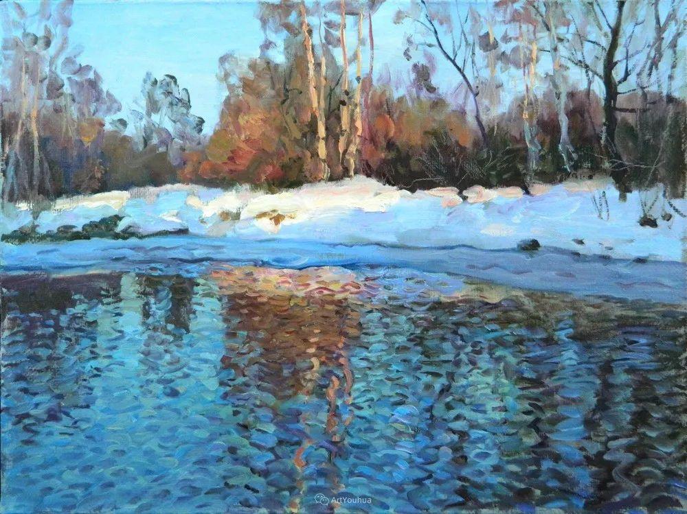 雪景油画 俄罗斯画家Rem Saifulmulukov插图31