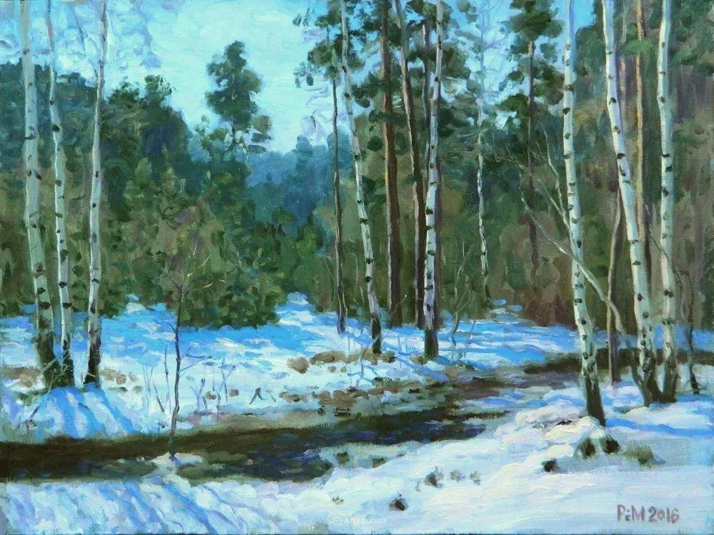 雪景油画 俄罗斯画家Rem Saifulmulukov插图33